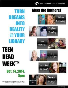 Teen Read Week 2014 - Author Panel Flyer copy